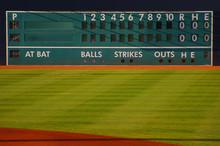 Retro Baseball Scoreboard With...