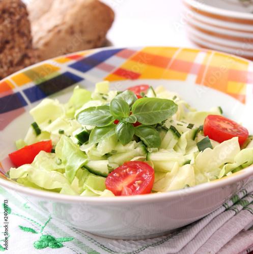 Canvas Prints Textures frischer Salat