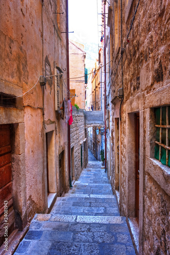 Canvas Prints Narrow alley side street in Dubrovnik