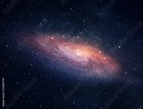 Distant galaxy Canvas Print