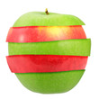 Sandwich of green and red apple