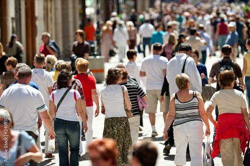 Slika na platnu walking pedestrians