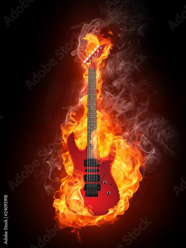 gitara-elektryczna-w-ogniu