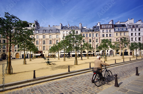Fotografie, Tablou Paris place Dauphine