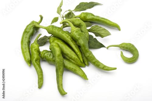 Photo peperoncini verdi