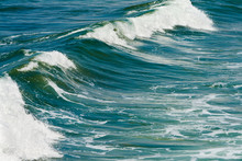 Ocean Waves With White Surf