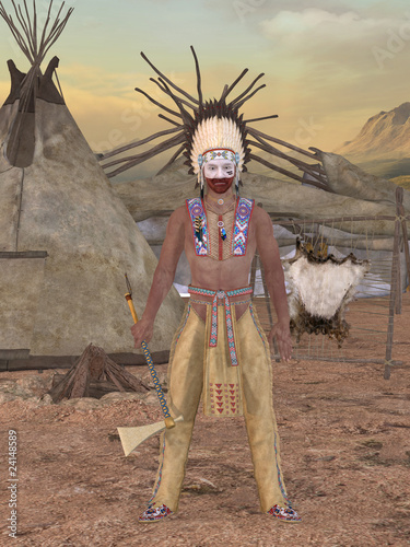 Poster Indiens Native American Indian - Cheyenne