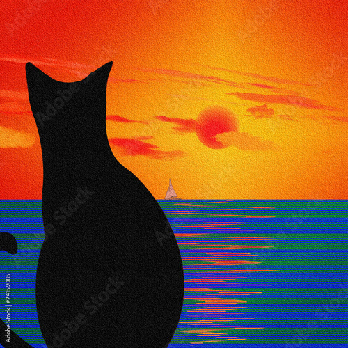 Cat and Landscape - 24159085