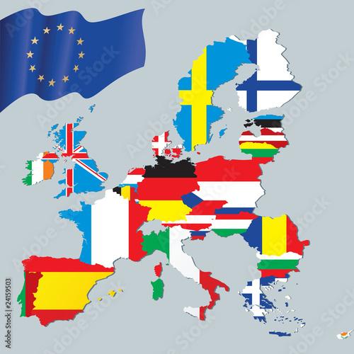 mapa-unii-europejskiej-z-teksturami-flag