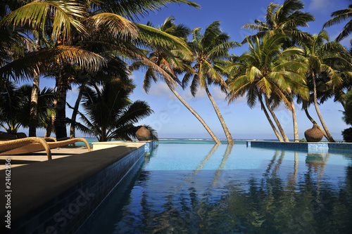 Fotografie, Obraz  Infinity Pool - Rarotonga