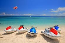 Jetski On Paradise Island Beach