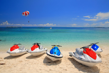 Jetski na plaži Paradise Island