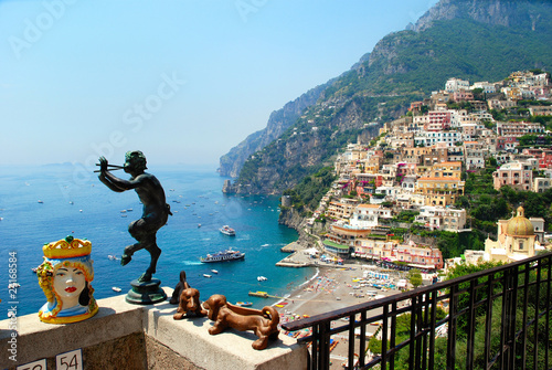 Photo sur Toile Naples Positano panorama estate 2010 Italia
