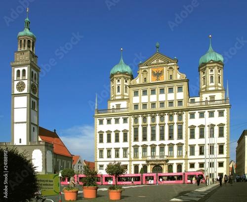 Augsburg, Rathaus, Perlachturm Canvas Print