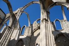 Carmo Church Ruins In Lisbon, Portugal