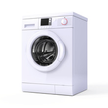 Washing Machine Isolated Over ...