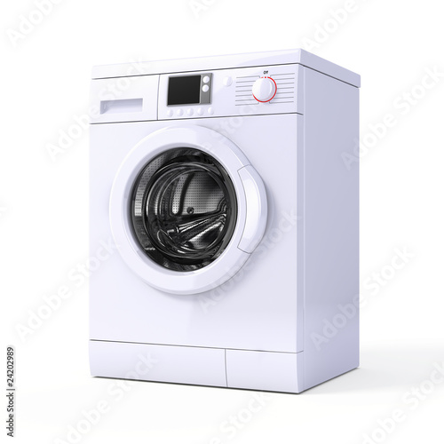 Pinturas sobre lienzo  Washing machine isolated over white - 3d render