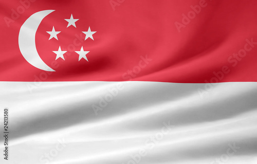 Fotografija  Flagge von Singapur