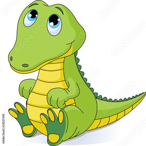 Fotografie, Obraz  Baby crocodile