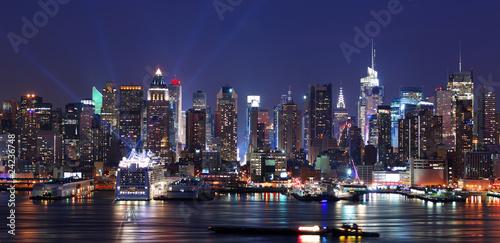 Panoramę Nowego Jorku na Manhattanie