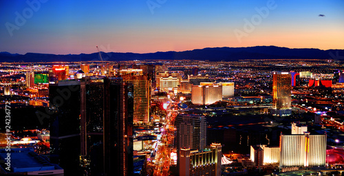 La pose en embrasure Las Vegas Las Vegas City Skyline panorama