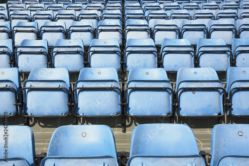 Poster Stadion empty blue stadium seats