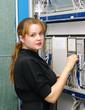 woman customer engineer of exchange
