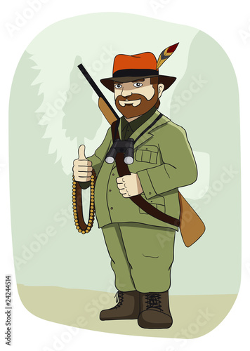 Türaufkleber Wilder Westen Hunter