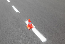 Traffic Cone And Fresh Painted...