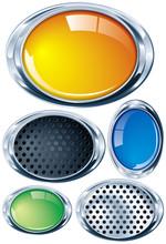 Ovalo Cromado En Varios Colore...