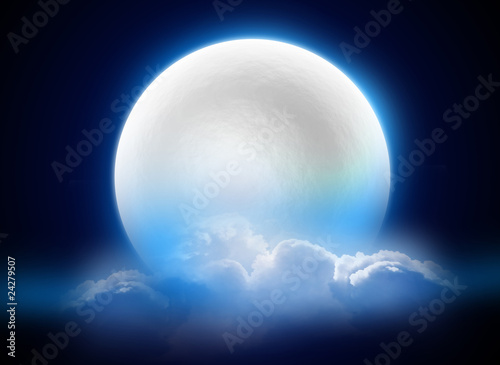 Photo sur Aluminium Pleine lune MoonLight