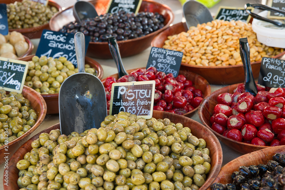 Fototapety, obrazy: Olives and Peppers