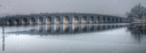 Foto op Aluminium Beijing the 17 arch bridge summer palace beijing