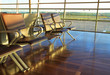 Empty chair on airport