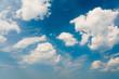 Leinwandbild Motiv Blauer Himmel, weiße Wolken