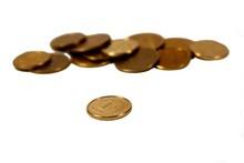 Polish Grosz Coins Isolated On White Background
