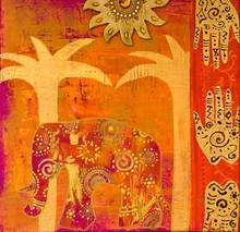 Collage Mit Elefant