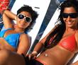 two girls sunbathing