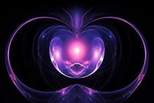 Background, Purple Light, Alien, Abstract  Mystic Ball