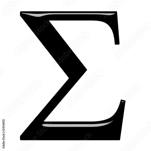 Fotografie, Obraz  3D Greek Letter Sigma