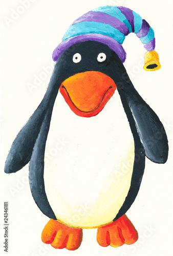 sliczny-pingwin-z-kapeluszem