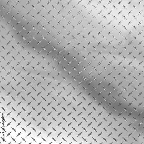 Fotobehang Leder Diamond plate