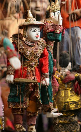 Garden Poster Fairytale World coloful Burmese puppets