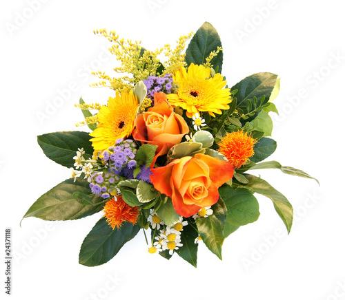 Poster de jardin Autruche Blumenstrauß