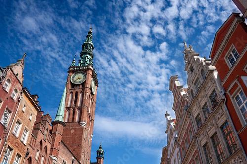 fototapeta na drzwi i meble Gdansk town hall
