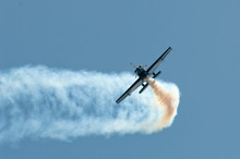 Stunt Pilot Making A Sharp Aer...
