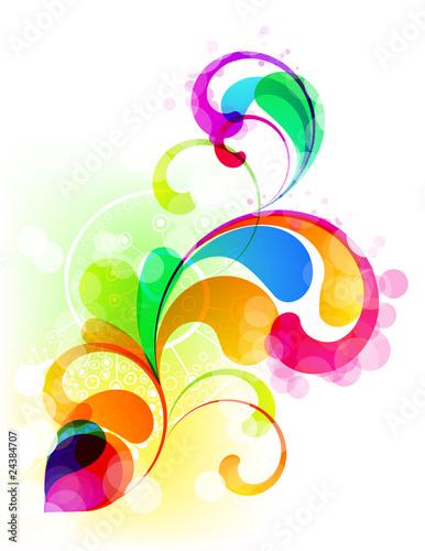Naklejka na meble EPS10. Editable colorful trendy graphic