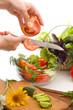 salad preparing