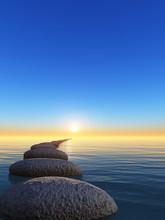 Rock And Sunrise
