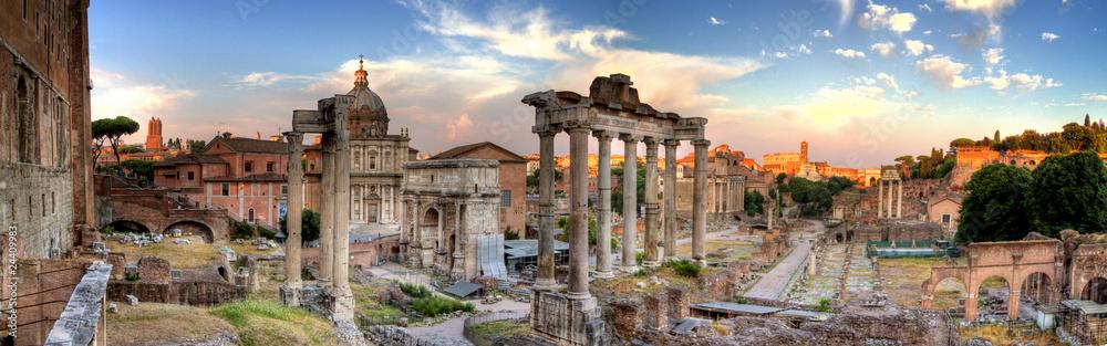 Fototapeta rome hdr panoramic view